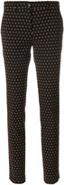Etro patterned slim fit trousers