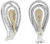 Effy Jewelry Effy 14K White and Yellow Gold Diamond Earrings, 1.03 TCW