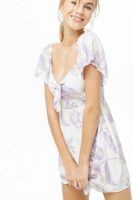 Forever 21 Knotted Floral Print Dress