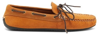 Quoddy Camp Driver Suede Loafers - Brown
