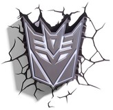 3D Light FX Transformers 3D Wall Nightlight - Decepticon