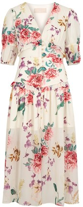 Keepsake About Us floral-print chiffon midi dress