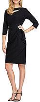 Alex Evenings Cutout Matte Jersey Sheath Dress