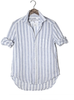 Frank And Eileen Womens Limited Edition Eileen Linen Wide Stripe Shirt
