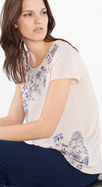 Esprit OUTLET light, mixed material printed t-shirt