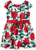 Carter's Girls 4-8 Red Floral Dress