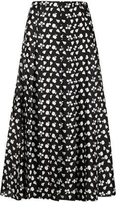 Victoria Beckham Fruit-Print Mid-Length Skirt