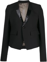 Rick Owens fitted patent detailed blazer -Black
