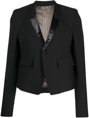 Rick Owens Fitted Patent Detailed Blazer