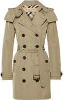 Burberry Balmoral Packaway Hooded Shell Trench Coat - Neutral