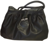 Longchamp Grey Leather Handbag Roseau