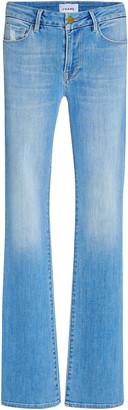 Frame Le Mini Stretch High Slit Bootcut Jeans