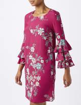 Monsoon Sabina Print Frill Sleeve Tunic Dress
