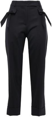 Simone Rocha Bow-embellished Wool-blend Twill Straight-leg Pants