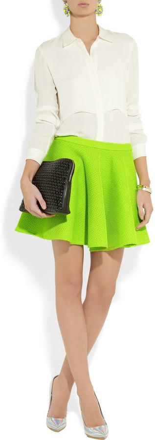 Chalayan Neon mesh skater skirt