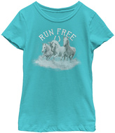 Fifth Sun Tahi Blue 'Run Free' Scoop Neck Tee - Girls