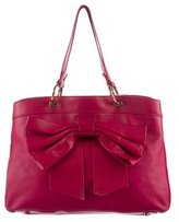 RED Valentino Bow-Accented Leather Tote