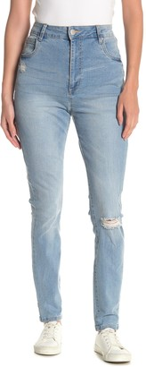 Cotton On Ripped High Waisted Skinny Jeans