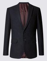 Marks And Spencer Wool Blend Mouflon Melange Jacket With Buttonsafetm