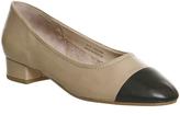 Office Lotus Block Heel Ballet