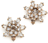 Marc Jacobs Pointy Strass Flower Stud Earrings