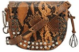 Amanda Wakeley Midi Cooper Tan Python Print Crossbody Bag
