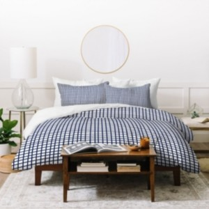 Deny Designs Holli Zollinger Cross Lines Twin Duvet Set Bedding