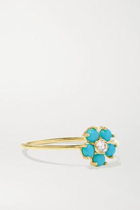 Jennifer Meyer 18-karat Gold, Turquoise And Diamond Ring - 5