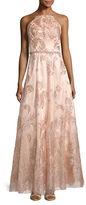 Cachet Halter Neck Glitter Prom Gown