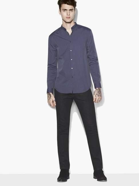 John Varvatos Stand Collar Shirt