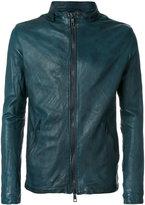 Giorgio Brato double zip jacket - men - Leather/Polyester/Silk/Spandex/Elastane - 48