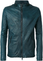 Giorgio Brato double zip jacket - men - Silk/Leather/Polyester/Spandex/Elastane - 48