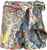 Oscar de la Renta tie up printed short