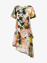 Dries Van Noten Defoe floral print asymmetric dress