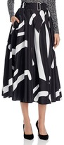 Max Mara Ali Abstract-Print Skirt