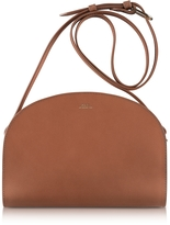 A.P.C. Half Moon Smooth Leather Crossbody Bag