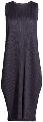 Pleats Please Issey Miyake Monthly Colors August Midi Dress