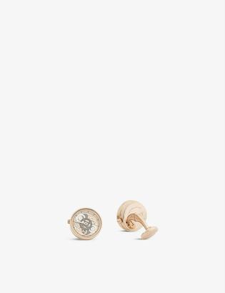 Tateossian Gear rose gold-plated metal cufflinks
