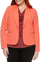 Worthington Long Sleeve Open Front Blazer - Plus