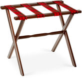 One Kings Lane Dion Plaid Luggage Rack, Black/Red
