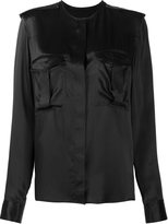 Haider Ackermann collarless pocket blouse