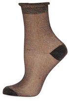 Free People Ruffled Metallic Socks