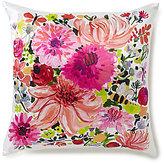 Kate Spade Dahlia Floral Silk & Cotton Square Feather Pillow