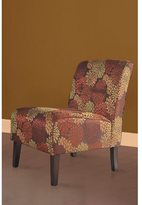 Linon Cozy Autumnal Fabric Button Tufted Lounge Chair