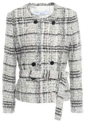 IRO Double-breasted Metallic Boucle-tweed Jacket
