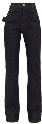 Bottega Veneta High-rise Flared Denim Jeans - Dark Blue