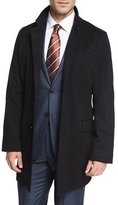 Ermenegildo Zegna Cashmere-Blend Long Car Coat, Black