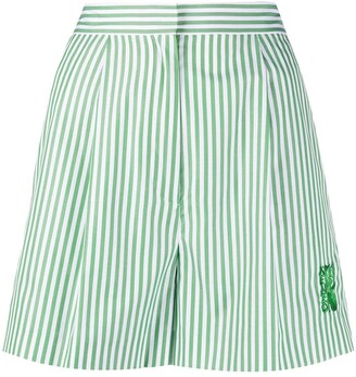 Kenzo High-Waisted Striped Shorts