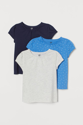 H&M 3-Pack Puff-Sleeve Jersey Tops