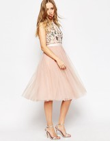 Needle & Thread Floral Frill Tulle Midi Dress